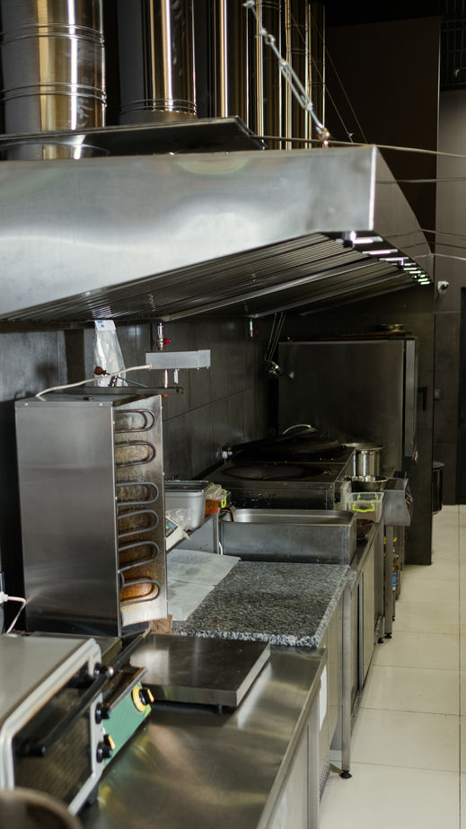 Kitchen exhaust hood vent  cleaning